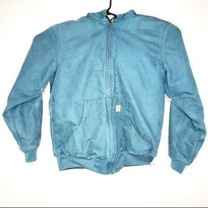 Carharrt Mens Size Small Blue Utility Sweatshirt